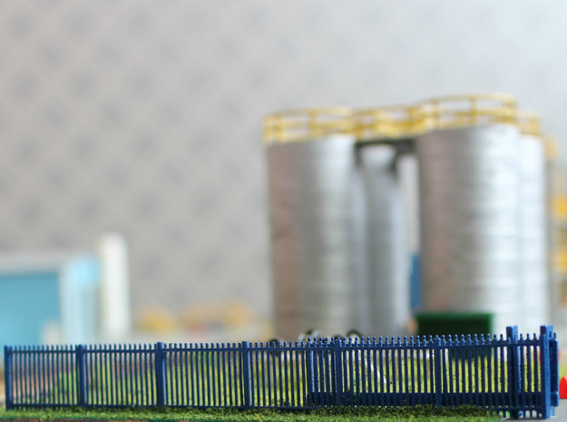 N Scale Fence 12x65mm in Smooth Fine Detail Plastic