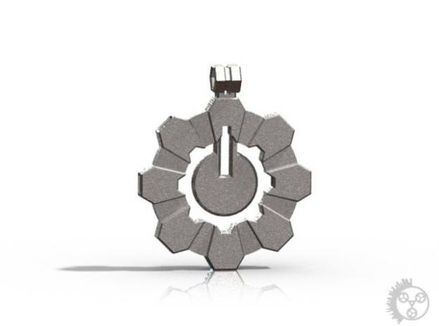 Powercog Pendant in Polished Bronzed Silver Steel