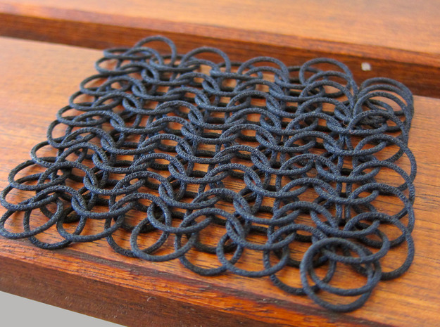 10 X 10 chain mail in Black Strong & Flexible