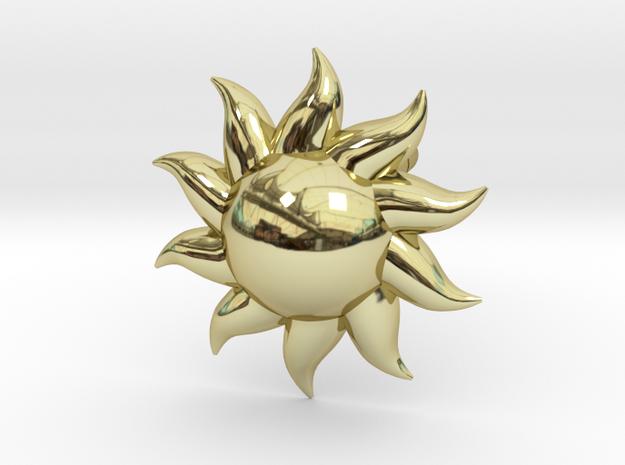 Sun Earrings in 18k Gold Plated