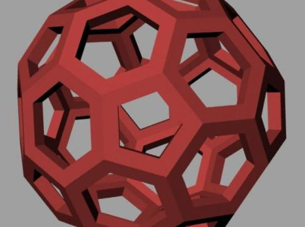 Truncated icosahedron 3d printed Rendering