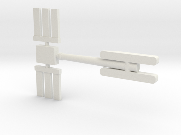 1/87 Light Tower #2 in White Natural Versatile Plastic