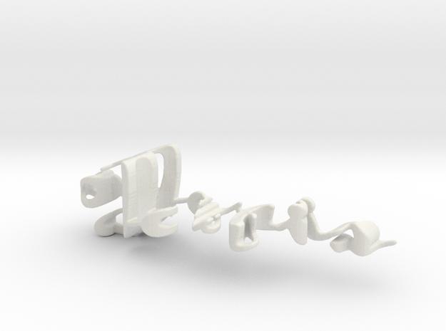 3dWordFlip: 0-Joris/0-Ellen in White Natural Versatile Plastic