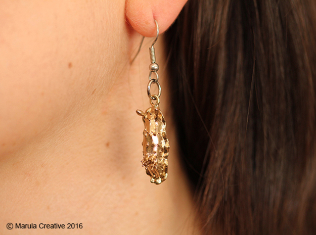 Doris the Nudibranch Earring in Natural Silver