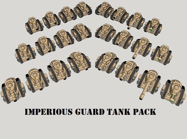 3mm Imperious Guard Battle Tanks (24pcs)