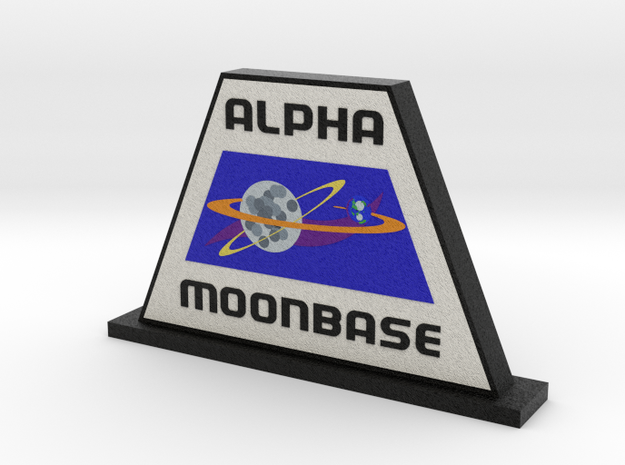 Moonbase Alpha Display (Space: 1999) = DESKAPADES  in Full Color Sandstone: Small