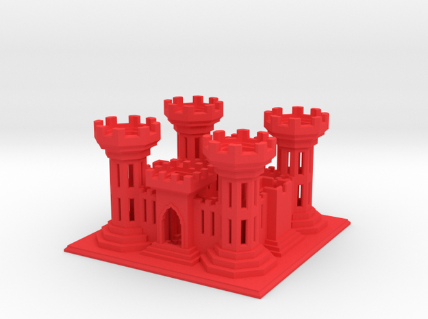 ACOEcastle2 in Red Strong & Flexible Polished