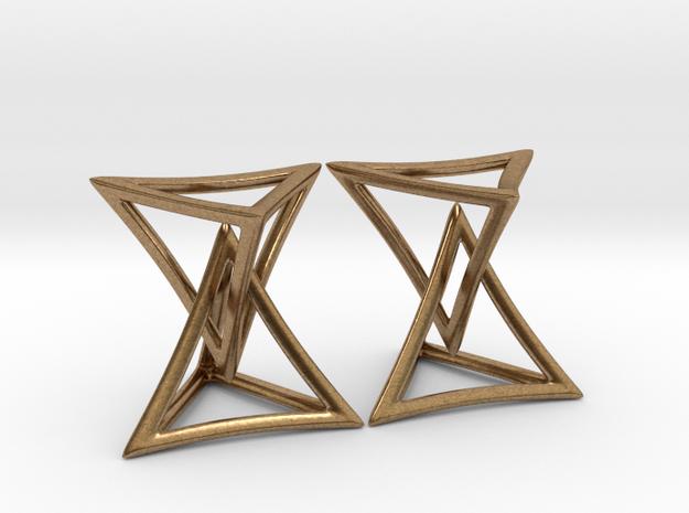 Triangles in Interlocking Raw Brass