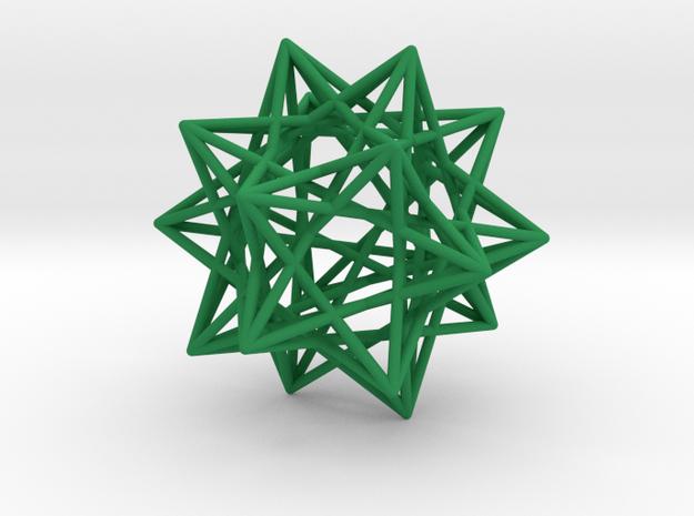 Ten Tetrahedra in Green Processed Versatile Plastic