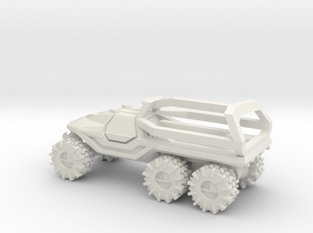 All-Terrain Vehicle 6x6 closed cab with Roll Over  in White Natural Versatile Plastic