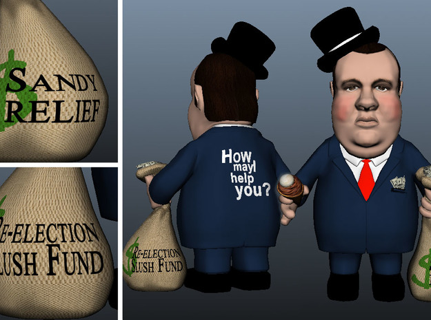 Top Hat Re-election Slush Fund Chris Christie 3d printed