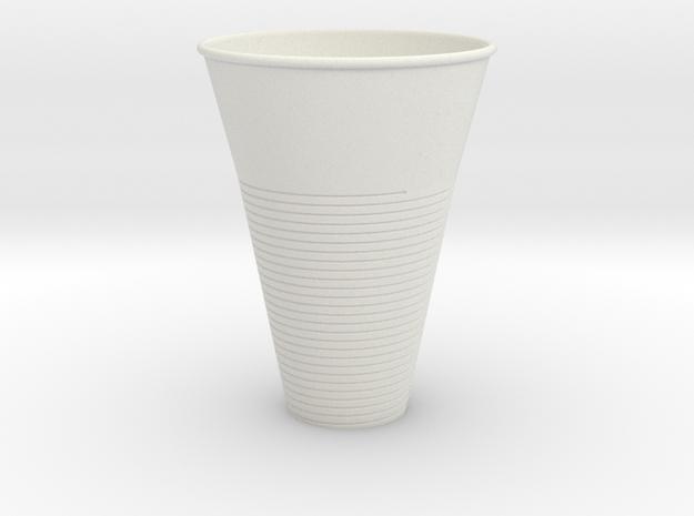 Plastic Cup in White Natural Versatile Plastic