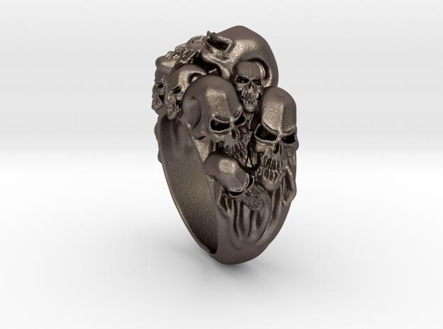 Skull Biker ring RS005000002 in Stainless Steel: 6 / 51.5