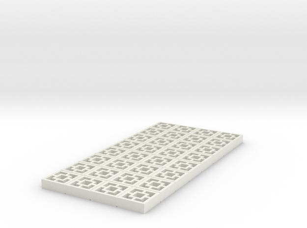 1/25 scale Breezeblocks style A, 4x8 panel in White Natural Versatile Plastic
