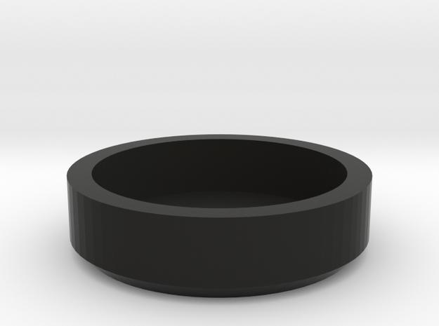 Dual Turntable 45 rpm Record Adapter in Black Natural Versatile Plastic