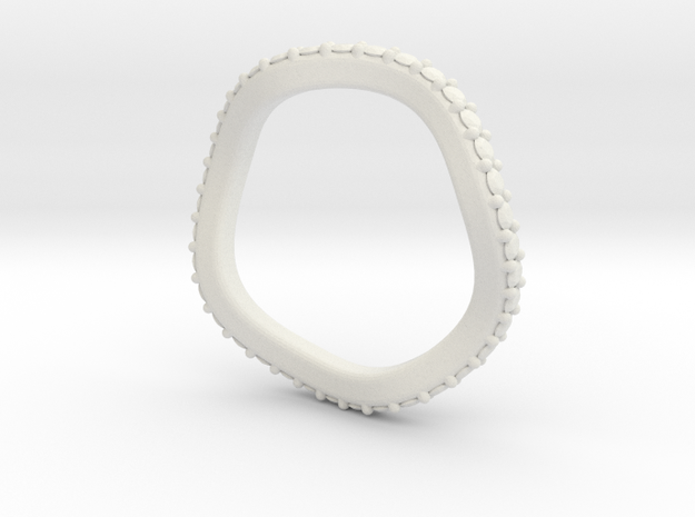 Leslie 2mm Matching Band in White Natural Versatile Plastic