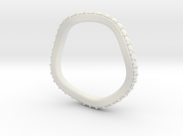 Leslie 2mm Flush Band in White Natural Versatile Plastic