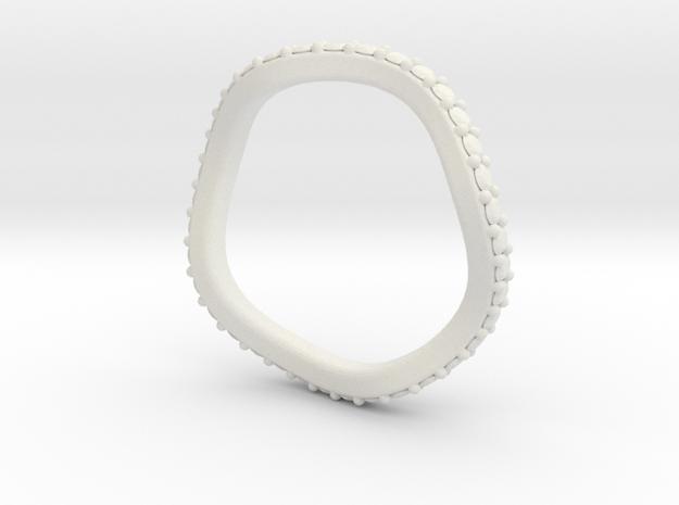 Leslie 2mm Flush Band in White Natural Versatile Plastic