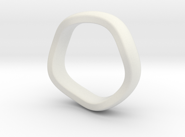 K 7.2mm Puffed Band in White Natural Versatile Plastic