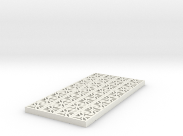 1/25 Breezeblock C 4x8ft panel in White Strong & Flexible