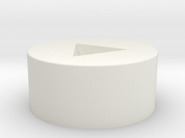 D4 Inverted Socket in White Natural Versatile Plastic