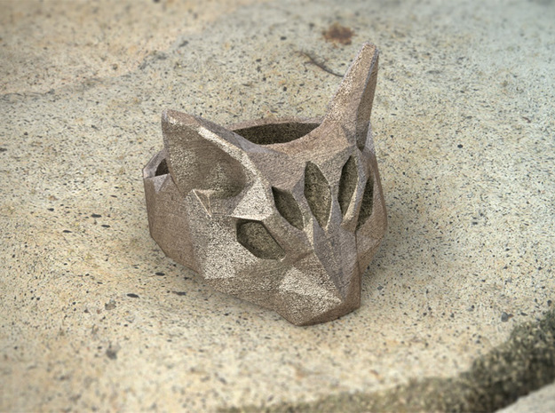 Polygonal cat ring: size 9 (US) S (UK) 3d printed