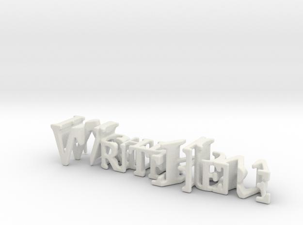3dWordFlip: WriteHere/RightNow in White Strong & Flexible