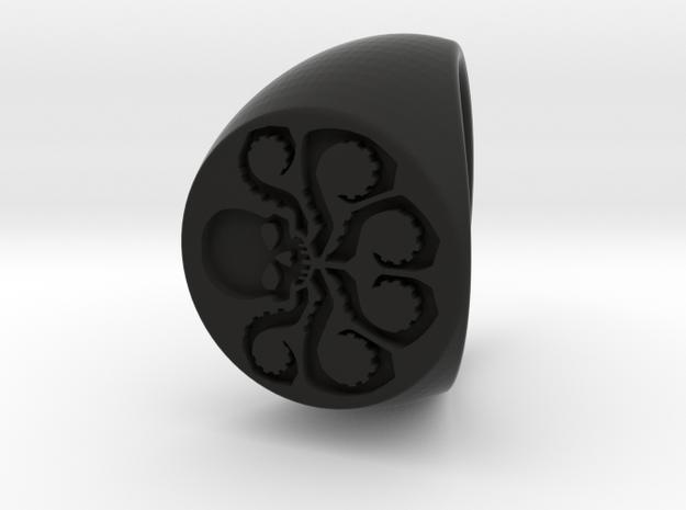Hydra Ring Size 10 in Black Natural Versatile Plastic