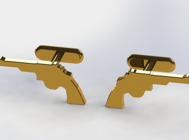 .44 MAGNUM CUFFLINKS in Polished Bronzed Silver Steel