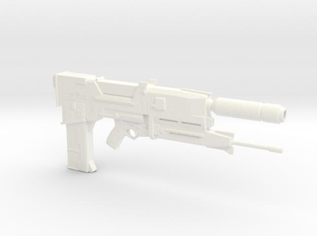 Terminator Plasma Rifle 1.6 Scaled in White Strong & Flexible Polished