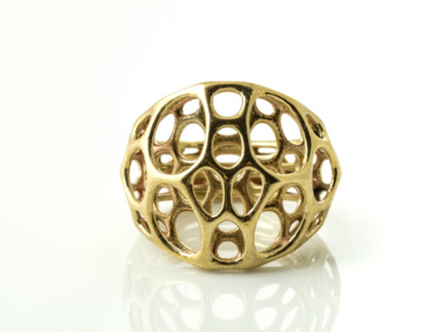 2-layer Center Ring in Polished Brass: 7 / 54