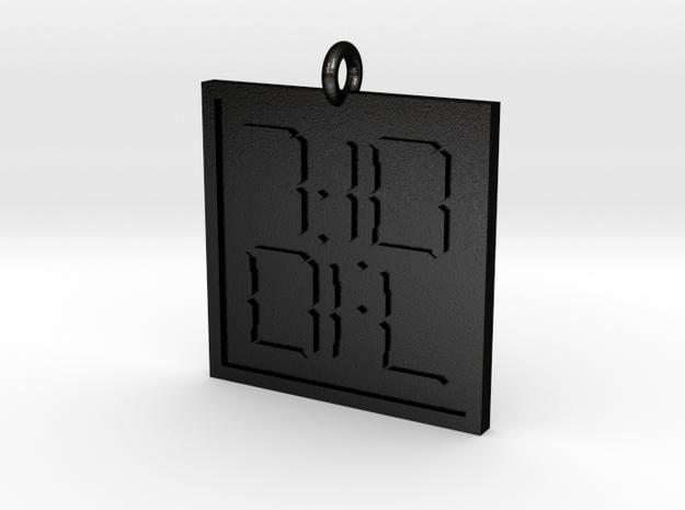 7:10 Pendant in Matte Black Steel
