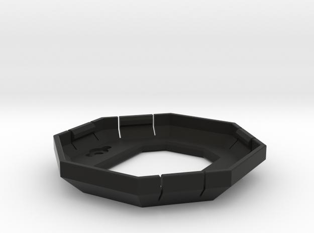 Board Case v23 - Snap Base in Black Natural Versatile Plastic