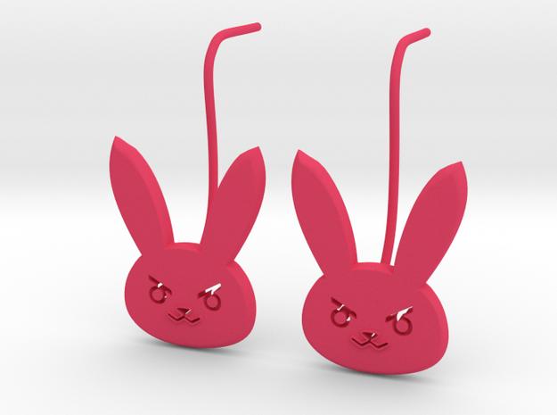 D.Va bunny earring studs in Pink Processed Versatile Plastic