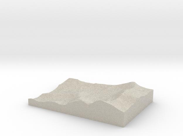 Model of Miller Mine in Natural Sandstone