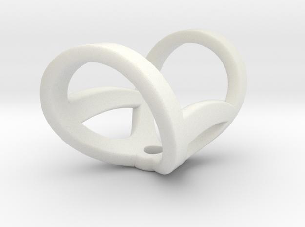 Ring For Vandermelo (infinity) in White Natural Versatile Plastic