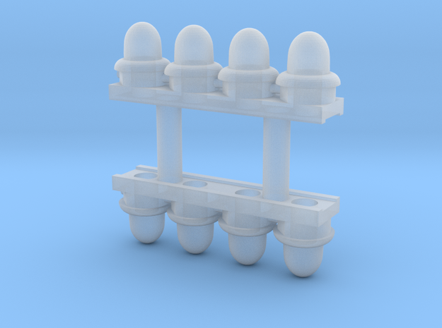 HO Scale RC Lights (Lighted) in Smoothest Fine Detail Plastic