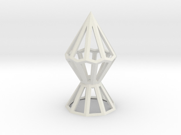 9-Anti-Diamond Frame in White Natural Versatile Plastic