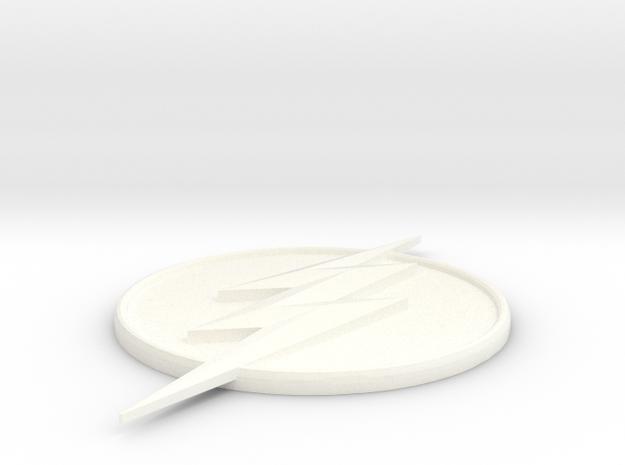 Flash Symbol in White Processed Versatile Plastic