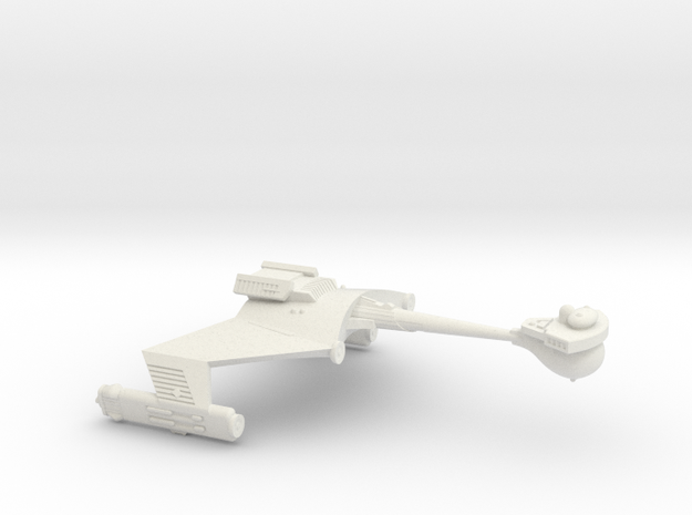 3125 Scale Klingon D6S Heavy Scout Cruiser WEM in White Strong & Flexible