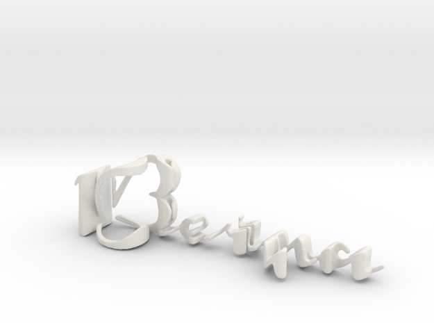 3dWordFlip: Berna/Douglas in White Natural Versatile Plastic