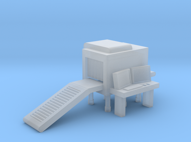 Baggage XRay Scanner N-Scale in Smooth Fine Detail Plastic