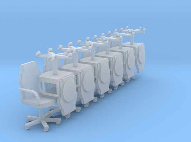 12 Ward Room Chairs HiRez (Star Trek Deep Space 9) in Smooth Fine Detail Plastic