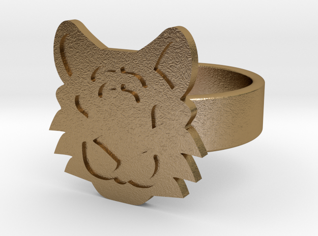 Tiger Ring in Polished Gold Steel: 10 / 61.5