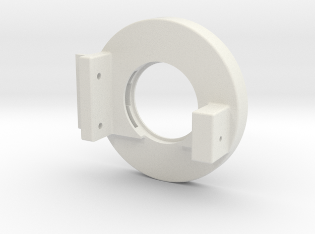 Rampage Encoder Mount Right Back in White Strong & Flexible