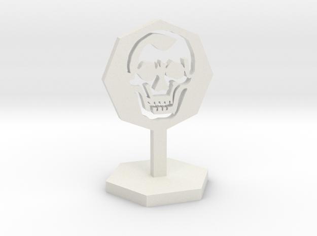 Skeleton Marker in White Natural Versatile Plastic