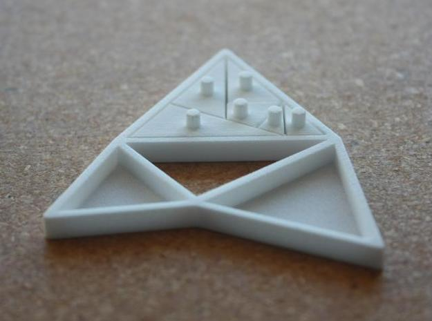 The Triangles of Pythagoras Puzzle 3d printed large triangle assembled photo