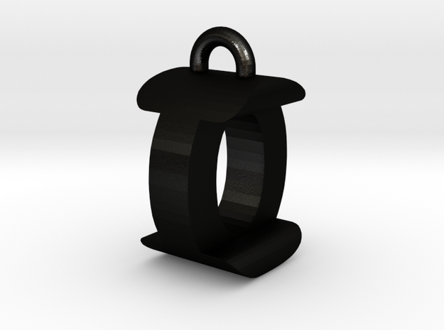 3D-Initial-IO in Matte Black Steel