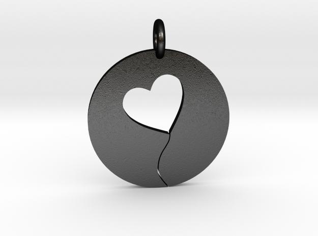 Heart String in Matte Black Steel