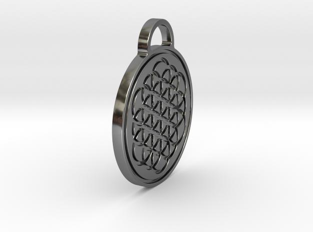 Flower of Life / Metatrons cube Pendant in Premium Silver